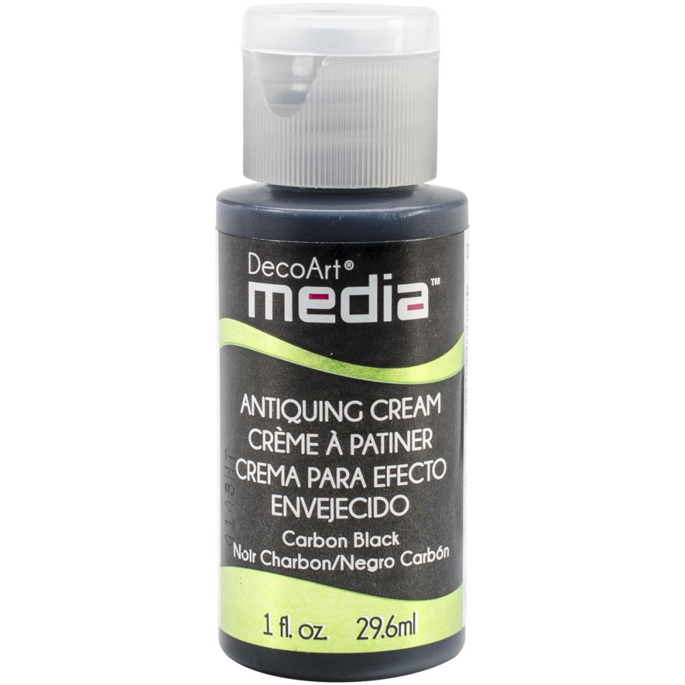 Deco Art Media Antiquing Cream 1oz - Carbon Black