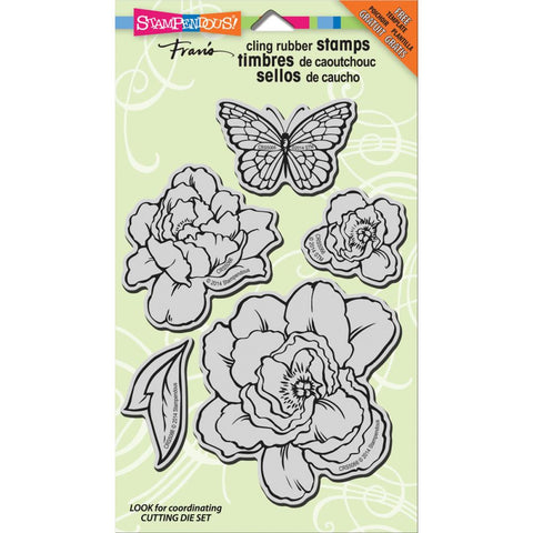 "Stampendous Jumbo Cling Rubber Stamp 7""X5"" Sheet - Lovely Garden (This works with Stampendous Lovely Garden Dies/5)"