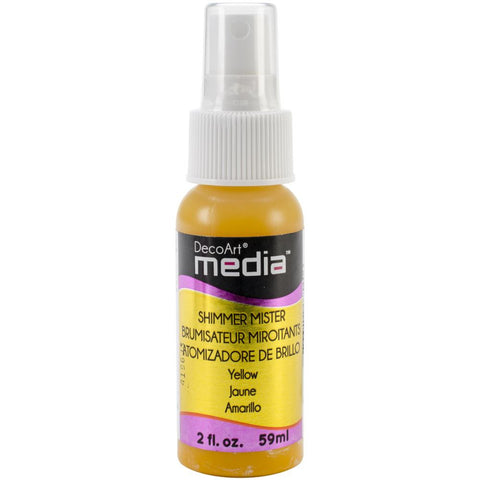 Deco Art Media Acrylic Shimmer Mister 2oz - Yellow