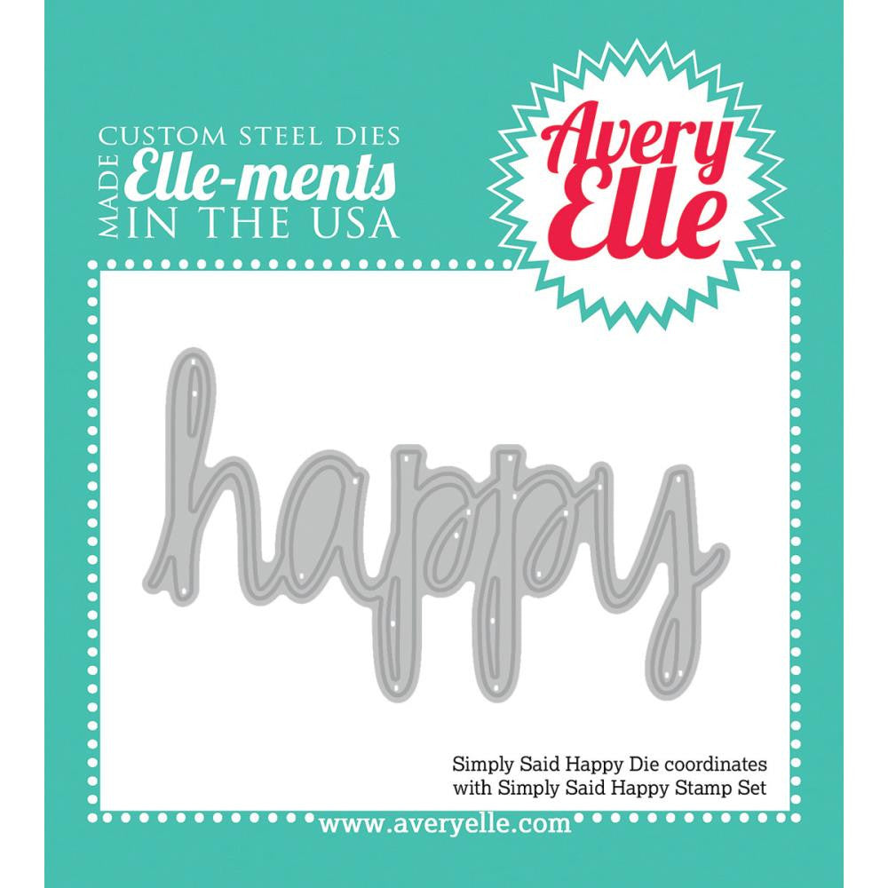 Avery Elle Ellements Die Set - Simply Said Happy