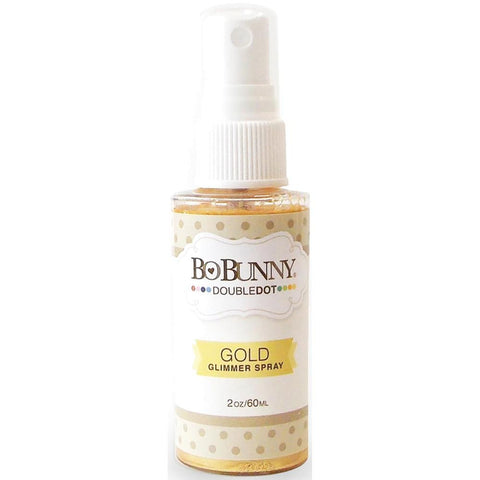 BoBunny Double Dot Glimmer Spray 2oz - Gold