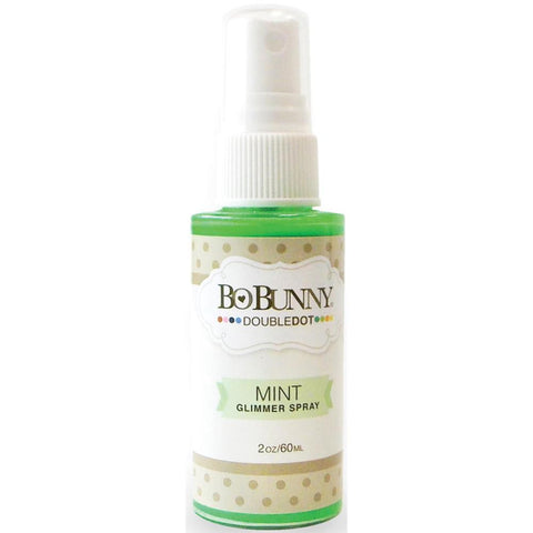 BoBunny Double Dot Glimmer Spray 2oz - Mint