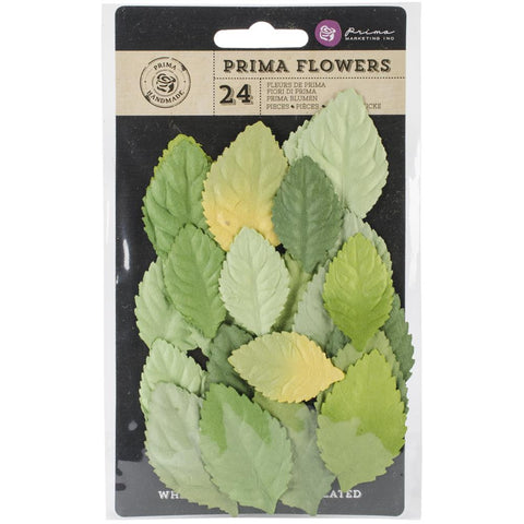 "Prima Bethany - Paper Leaves 1.75"" To 2.25"" 24 Pieces - Leaflet"