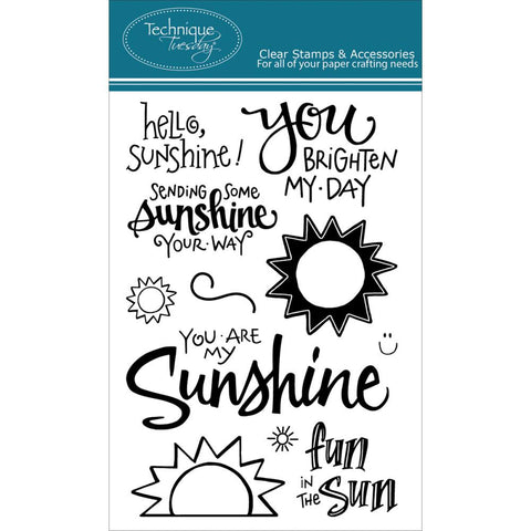 "Technique Tuesday Clear Stamps 4"" x 6"" - Hello Sunshine"