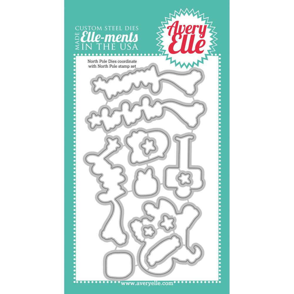 Avery Elle Clear Stamp Set and Coordinating Die - North Pole