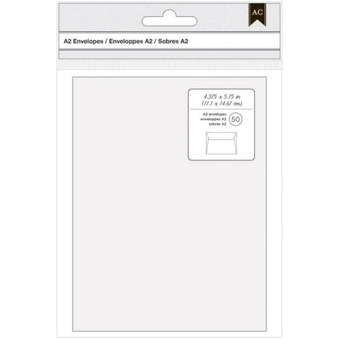 "American Crafts A2 Envelopes (4.375""X5.75"") 50/Pkg"