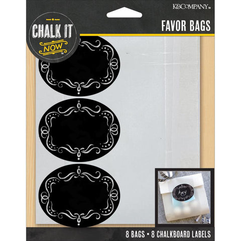 Chalk It Now Glassine Bags W/Chalkboard Label