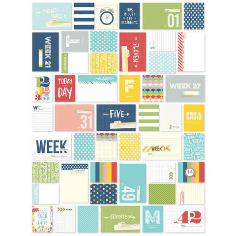 Simple Stories Sn@p! Life Week in Review Documented Cards 148/Pkg