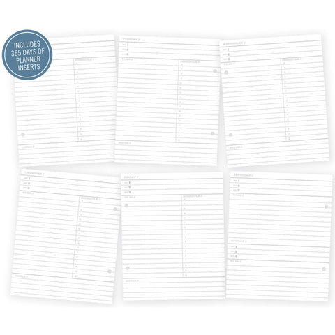"Simple Stories Sn@p! Life Documented Double-Sided Pages (1 day per page) Inserts 6""X8"" 156/Pkg"