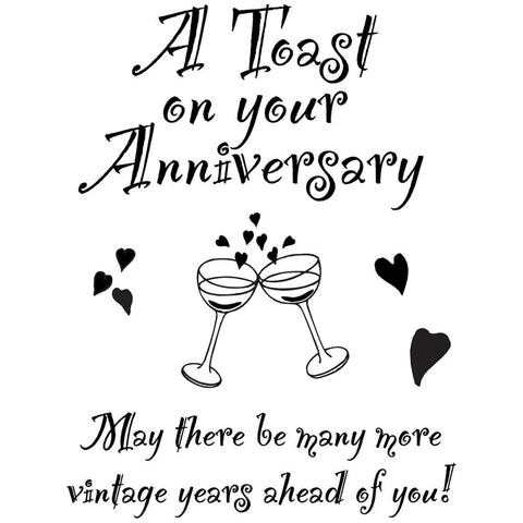 "My Sentiments Exactly Clear Stamps 3""X4"" Sheet - Anniversary"