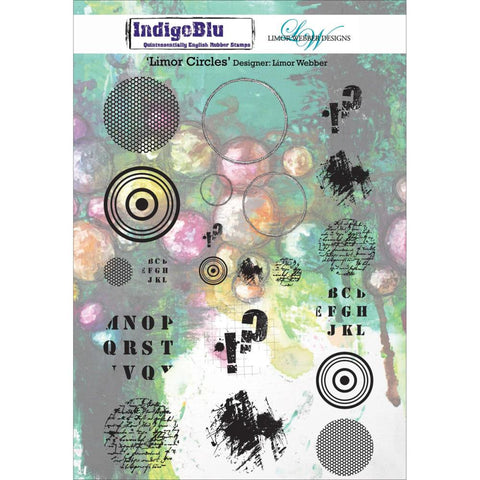 "IndigoBlu Cling Mounted Stamp 8""X5.5"" - Limor Circles by Limor Webber"
