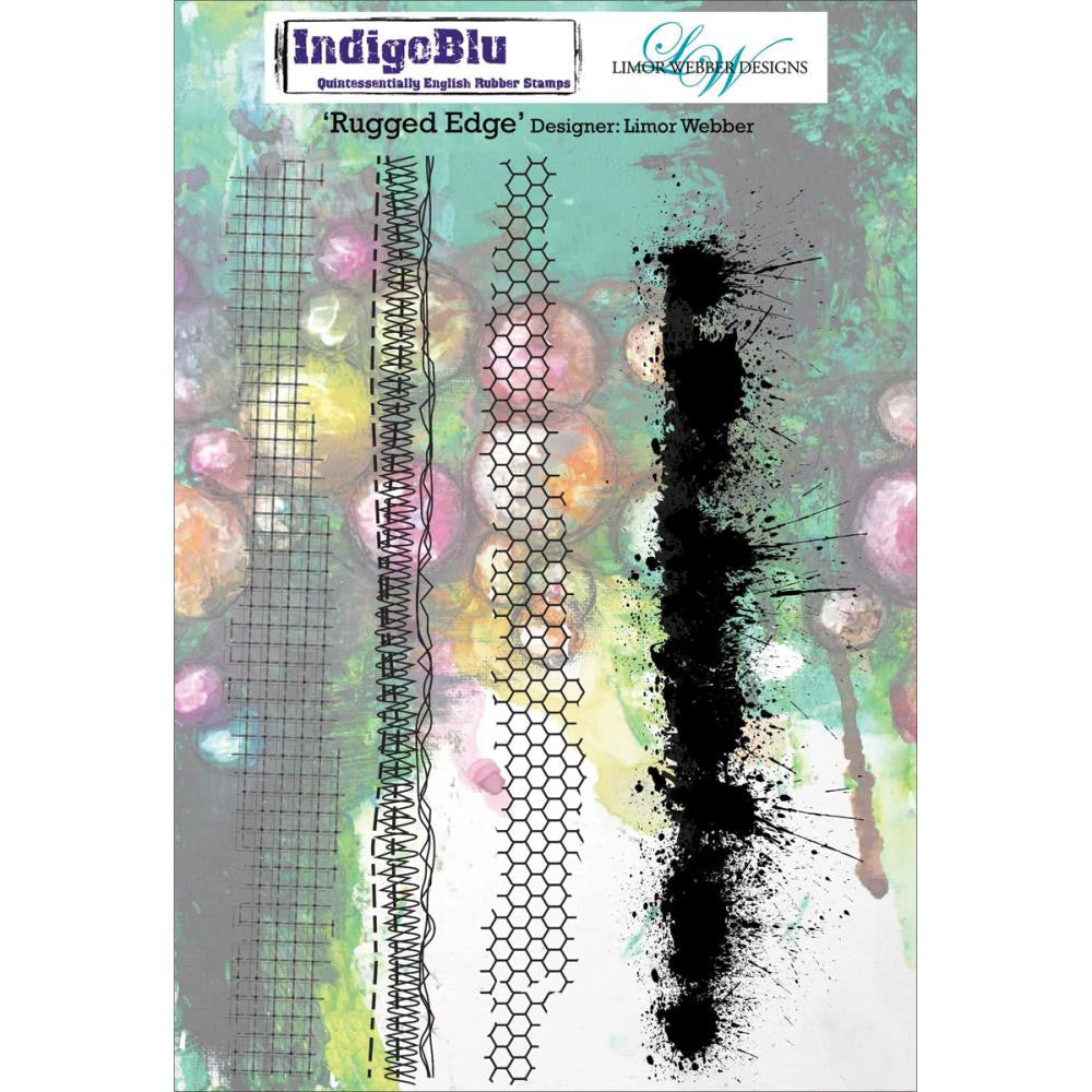 "IndigoBlu Cling Mounted Stamp 8""X5.5"" - Rugged Edge by Limor Webber"