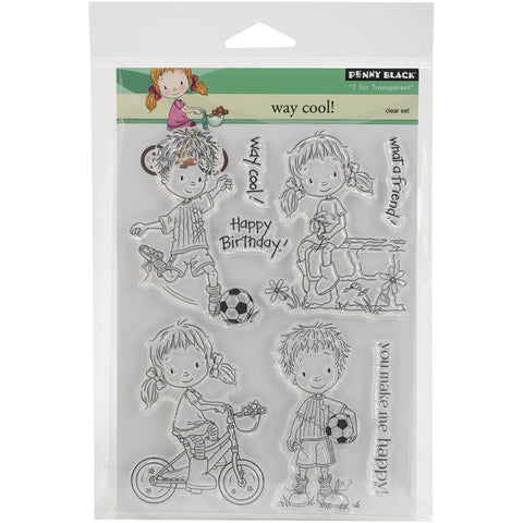 "***New Item*** Penny Black Clear Stamp, 5""X7"" Sheet - Way Cool"