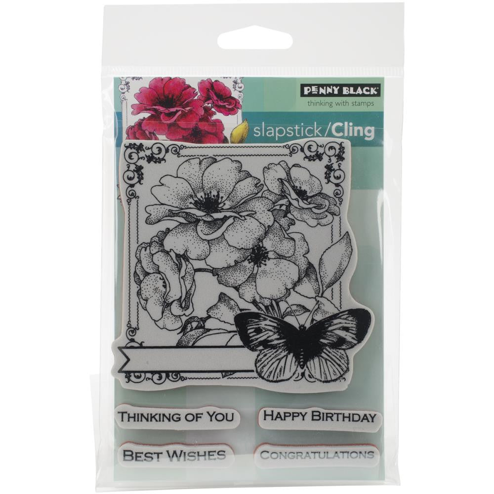 Penny Black Cling Stamp Sheet - Collage Of Wishes