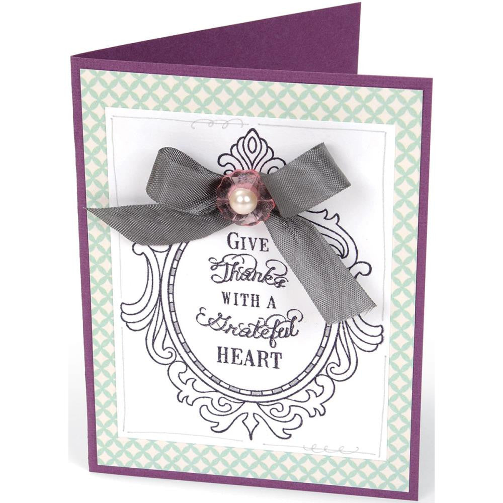 Sizzix Interchangeable Clear Stamps By Jen Long - Fancy Frames W/Phrases