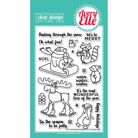 "Avery Elle Clear Stamp Set 4""X6"" - Snow Much Fun (Coordinates With ""Snow Much Fun"" Ellements Die)"