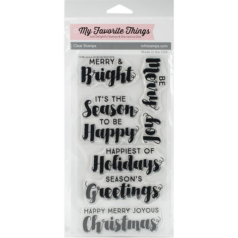"My Favorite Things Clearly Sentimental Stamps 4"" x 6""- Joyous Christmas"