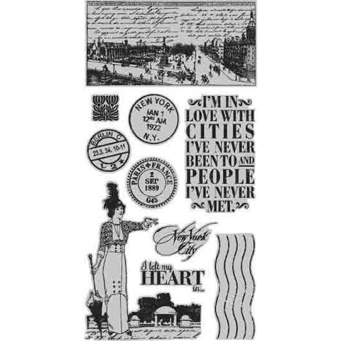 Hampton Art, Graphic 45 Cityscapes Cling Stamps - One
