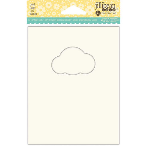 Jillibean Soup Shaker Cards/Envelopes, 6/Pkg - Cloud