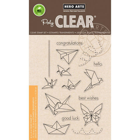 "***New Item*** Hero Arts, Clear Stamp, 4"" x 6"" - Oragami Animal"