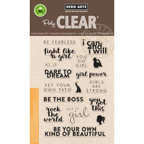 "***New Item*** Hero Arts, Clear Stamp, 4"" x 6"" - Dare To Dream"