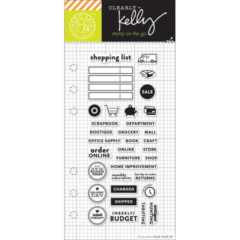"***New Item*** Kelly Purkey, Clear Stamps, 2.5""X6"" - Shopping Planner"