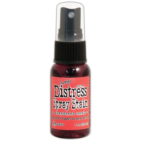 ***New item*** Ranger - Tim Holtz Distress Spray Stains 1oz - February Color of the Month!  Abandoned Coral