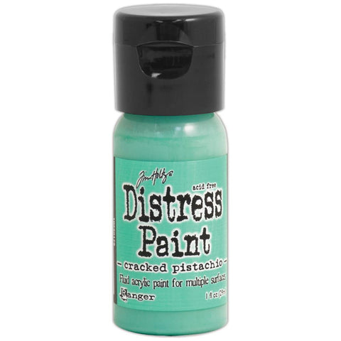 ***New Item*** Ranger, Tim Holtz, Distress Paint Flip Cap 1oz - January Color of the Month! Cracked Pistachio