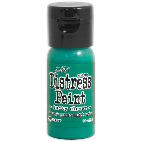 Ranger, Tim Holtz, Distress Paint Flip Cap 1oz - November Color of the Month! Lucky Clover