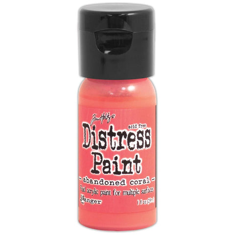 ***New Item*** Ranger, Tim Holtz, Distress Paint Flip Cap 1oz - February Color of the Month! Abandoned Coral