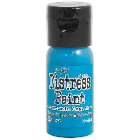 ***New Item*** Ranger, Tim Holtz, Distress Paint Flip Cap 1oz - March Color of the Month! Mermaid Lagoon