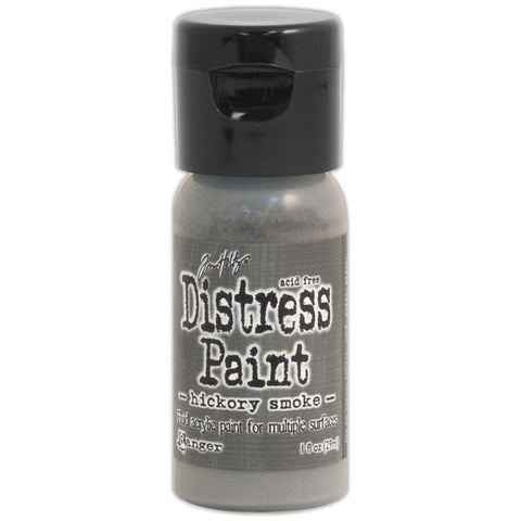 ***New Item*** Ranger, Tim Holtz, Distress Paint Flip Cap 1oz - June Color of the Month! Hickory Smoke