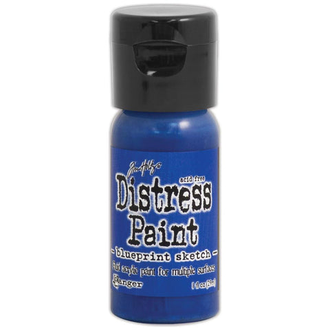 ***New Item*** Ranger, Tim Holtz, Distress Paint Flip Cap 1oz - July Color of the Month! Blueprint Sketch