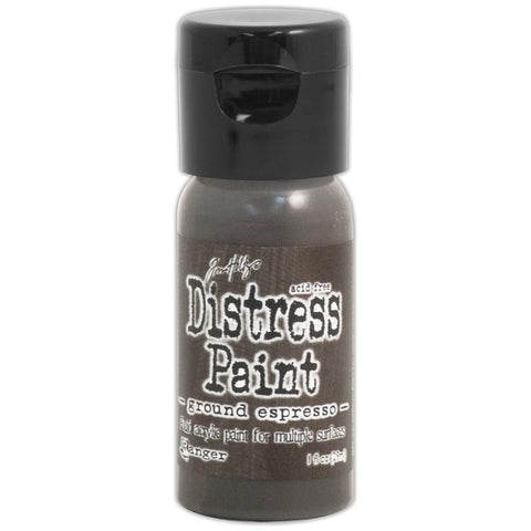 ***New Item*** Ranger, Tim Holtz, Distress Paint Flip Cap 1oz - August Color of the Month! Ground Espresso