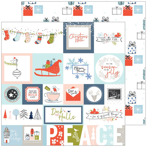 Pinkfresh Studio - December Days Double-Sided Cardstock - Tis The Season