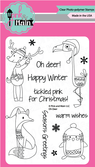 "Pink & Main, 4""x 6"" Stamp Set - Oh Deer (coordinates with ""Oh Deer"" Dies)"