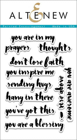 "Altenew - 4"" x 6"" Stamp Set - Painted Encouragement"