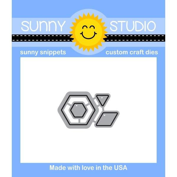 Sunny Studio - Sunny Snippets Custom Craft Dies - Quilted Hexagons