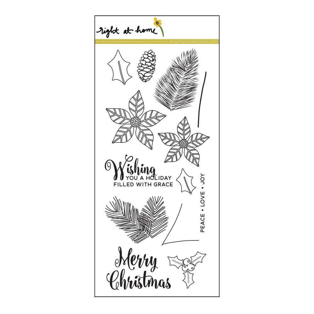 "Right at Home - 4"" x 8"" Stamp Set -  CHRISTMAS FOLIAGE"