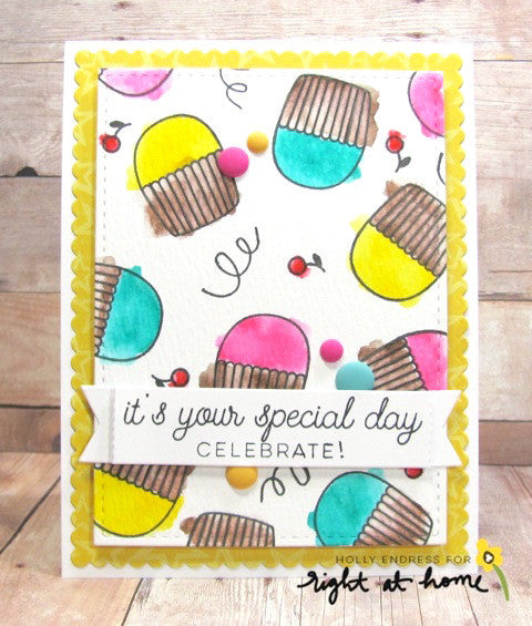 "Right at Home - 4"" x 6"" Stamp Set -  SWEET BIRTHDAY"