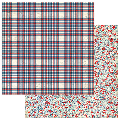 Photoplay Paper - Red, White & Blue Double-Sided Cardstock - Freedom
