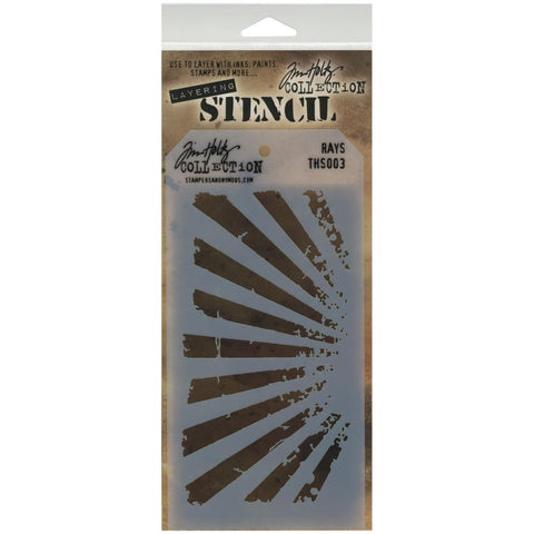 Stampers Anonymous - Tim Holtz - Layering Stencil - Rays