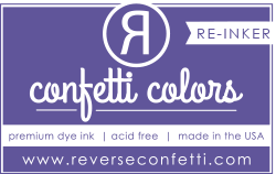 ***New Item*** Reverse Confetti - Dye Re-Inker - Royal Purple