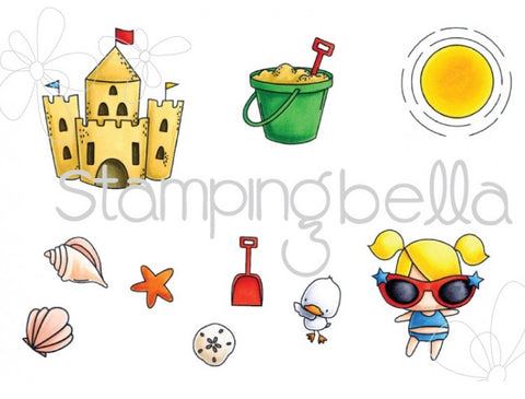 Stamping Bella - Cling Stamp Set - The Littles Sandcastle