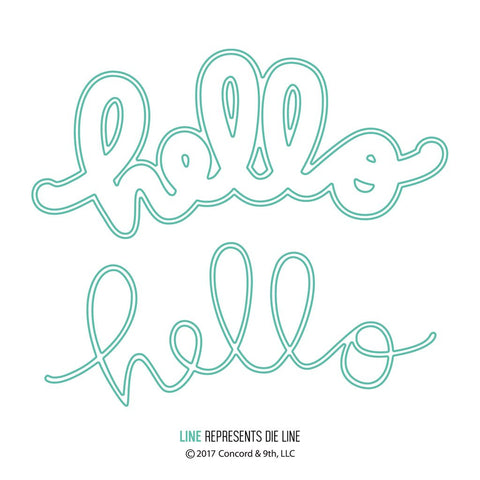 Concord & 9th - Dies - Say Hello (coordinates with Say Hello Stamp Set)