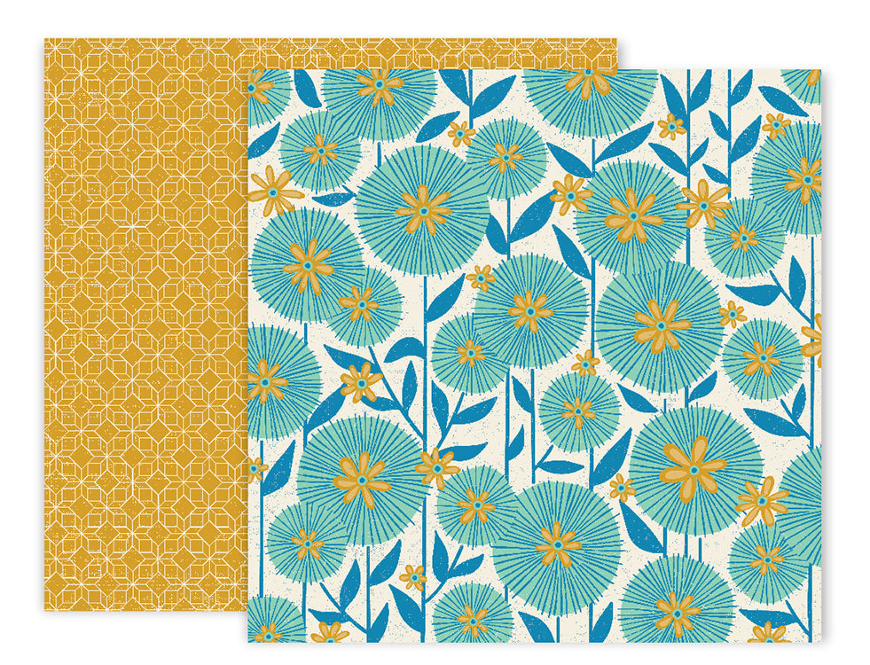 American Crafts - Wild Child Double-Sided Cardstock - #5 Dandelions/Diamond Design