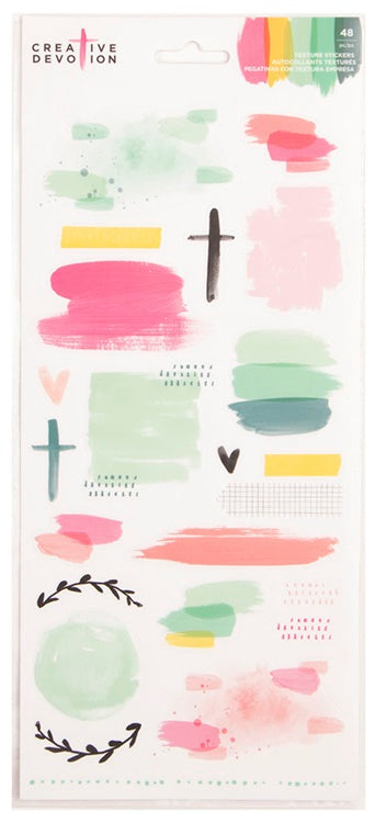 American Crafts - Creative Devotion Texture Stickers Matte Texture