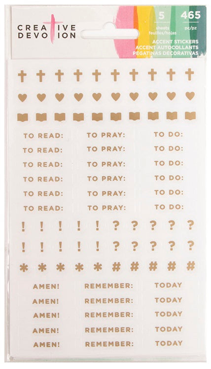 American Crafts - Creative Devotion Accent Stickers Mini Accents W/Gold Foil