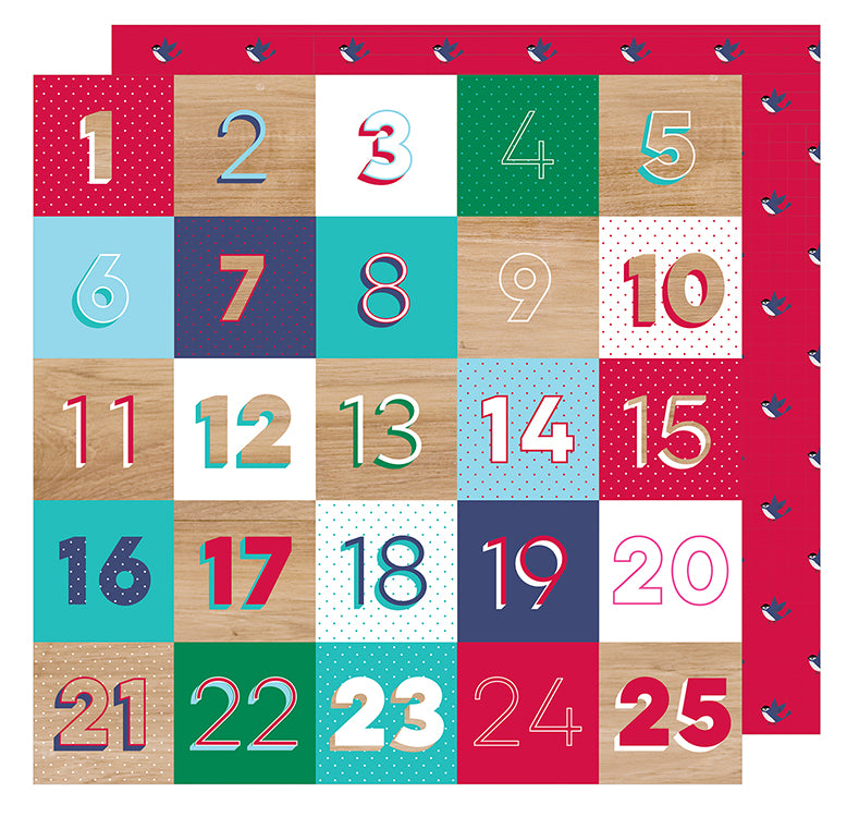 American Crafts - Glitter Girl Double-Sided Cardstock - Countdown