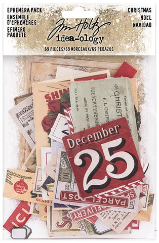 ***Pre-Order*** Tim Holtz - Idea-ology - Ephemera Pack - Christmas